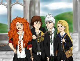 The Big Four Howarts by yunnasukiga5
