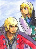 Sketchcard PXZ Zephyr and Leanne by fedde