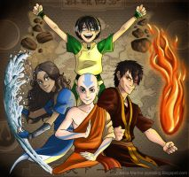 The four elements by J-e-J-e