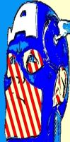 Captain America Two Tone Background Pop Art by TheGreatDevin