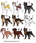 .: Dog Adoptables - Ginga style :. [OPEN] by RoyalMutt