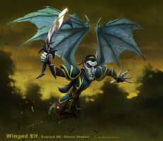 Winged Elf Overlord by PeterLumby