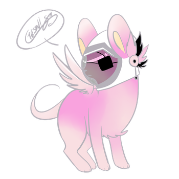 Pinkmousey by Guswls