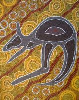 aboriginal kangaroo by adele-art