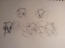 Hair sketches! Yay! by Fingrprints