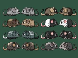 FREE Cute Mouse-adoptables - CLOSED by Meerestier