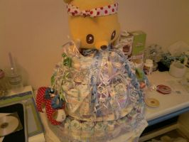 Diaper Cake Left Side by carmietee