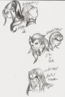 DBZ OC'S in Pencil by Tsuna-Draken