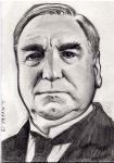 Mr. Carson from Downton Abbey sketch card by Kapow2003