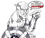 Captain America Time to Draw! by ramstudios1