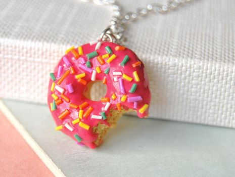 Bitten Donut Necklace by Madizzo