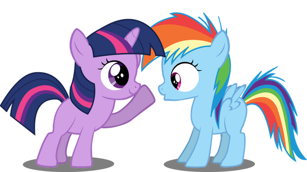 [Vexel] Filly Dashie and Twily by DerAtrox