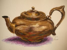 Teapot Study-Oil Pastel by FimbulWinter9