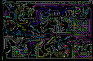 Psychedelic Circuit Board by Vaiktorizer