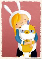 Fionna and Cake by tissa