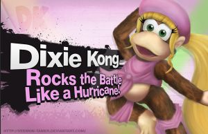 DIXIE KONG - CONFIRMED! *Smashified attempt* by veemon-tamer