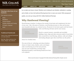 WRCollins Hardwood Web design by pookstar