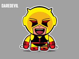 Classic Yellow Suit Daredevil by Yeti-Labs