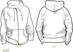 Hoodie template V2 by pindlekill