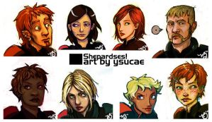 Multiple personnalities faces by ysucae