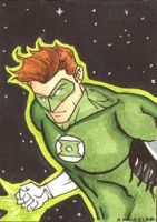 Green Lantern Sketchcard by wheels9696
