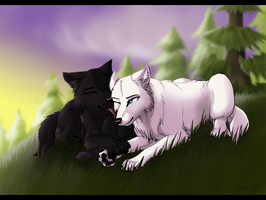 Rowen and Lily comm. by Wolf-Goddess13