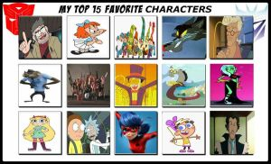 My Top 15 Favorite Characters by Toongirl18