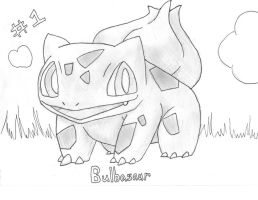 Num. 1 Bulbasaur - Not colored by quickwing23