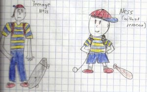 Ness Drawings 2 and 3 by Dogman15