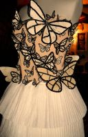 Butterfly paper dress by Samwakenz