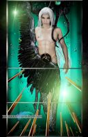 sephiroth statue cosplay by Jiakidarkness