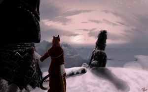 Sunset at WinterHold by SOLIDShift