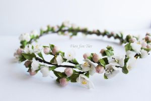 Apple blossom crown by fion-fon-tier