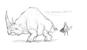 The Barrens Rhino by mohiche