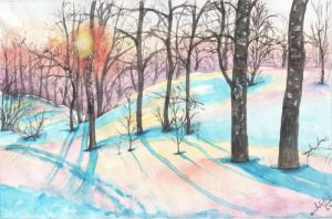 Winter landscape by IllusoryLove