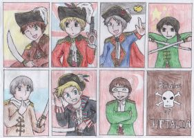 Pirates Of Hetalia- The Seven Captains by dorizard