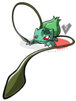 Bulbasaur Uses Vine Whip by En-Viious