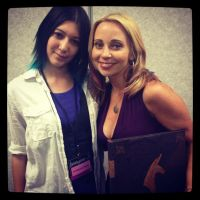 Tara Strong, myself and the hand painted book! by InkyNotebook