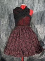 Red Scroll Pattern RuffleSkirt by SeraphimFeathers