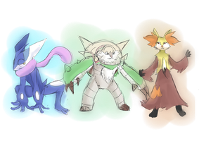 Final Kalos Starter Final Evos? by Neptunusz
