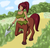 Monster Girl Challenge 2: Centaur by Jcdr