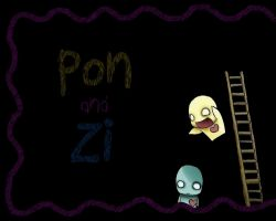 Pon and Zi Wallpaper by octupus8