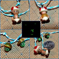 Glow in the Dark Toad Necklace by Rudjue
