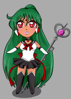 Chibi Sailor Pluto by magicpotion