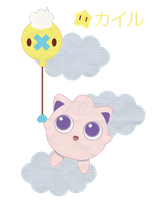 Shiny Drifloon and Purin for Shayminlover ::GIFT:: by Itachi-Roxas