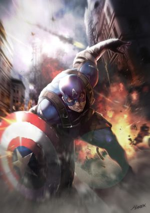 Captain America Fan Art!! by Hanseul-Kim