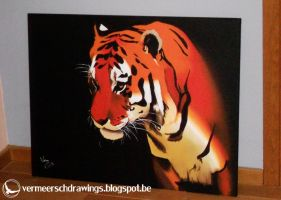 Dark Tiger (70cmx90cm) by Martin--Art