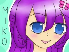Miko-chan my new oc =D by UchihaBlue11
