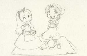 Tea Time with Alice and Wendy by OtherworldlyDreams
