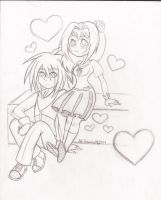 Valentine's Day 2014 - Kurokage and Whispers by HirokoTheHedgehog